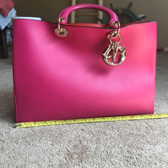 Dior Bags   Pink And Orange Leather Christian Bag   Poshmark d8e3441b40